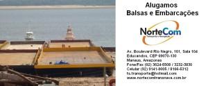 Aluguel de Balsas e Embarcações em Manaus, Belém, Porto Velho