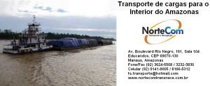Transporte de cargas em balsas para os municípios do interior do Amazonas
