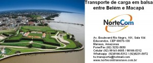Transporte de cargas em balsas Macapá x Belém, Belém x Macapá