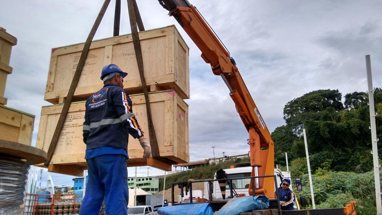 Movimentação de cargas do porto até seu armazém