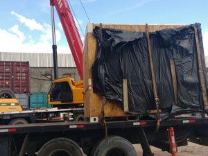Movimentação portuária de cargas de embarcações
